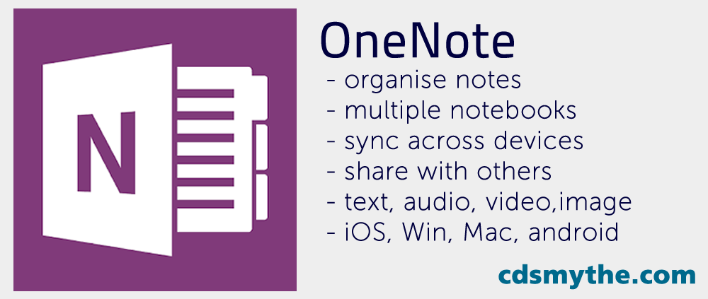 OneNote app - vis cdsmythe.com