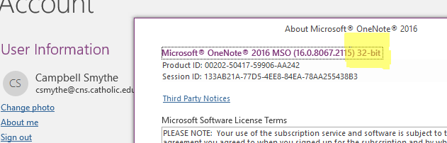 onenote send to sway