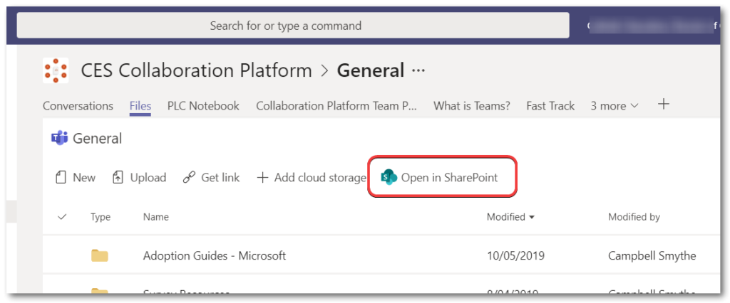 Teams sync button onedrive