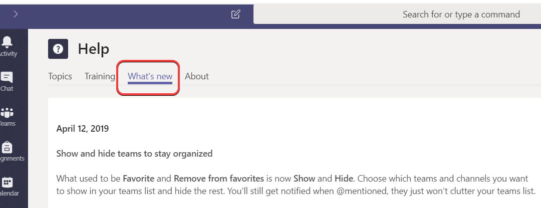 Microsoft Teams – How to keep up with what's new in Microsoft Teams