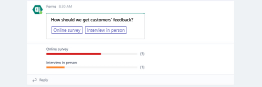 Microsoft Teams – Create a Quick Poll for your Team Members