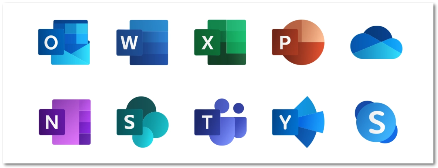 2019 Office 365 Icons