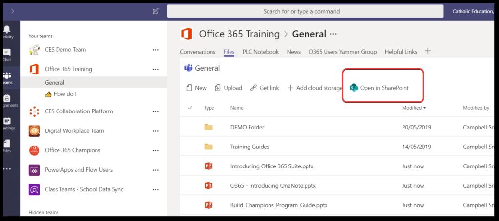 Microsoft Teams Read Only Folder